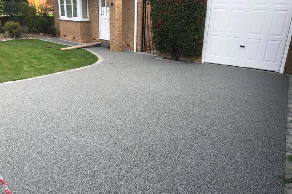 A Modern resin stone driveway