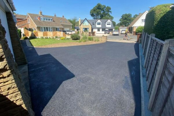 A modern tarmac driveway