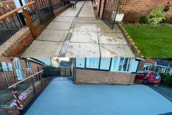 Before and After Resin Bond Driveway